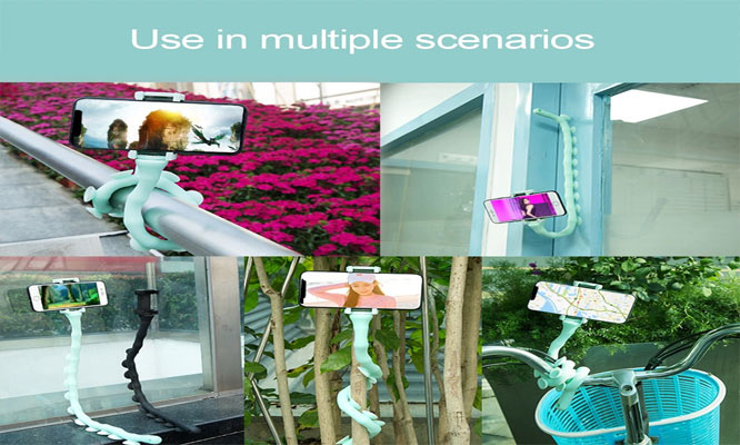 Gusanito Soporte flexible para telefono movil con ventosa delivery