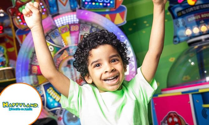 ¡Happyland promo Cumpleaños! 5 tarjetas para juegos  5 Kits Happyland ¡Cupon movil!