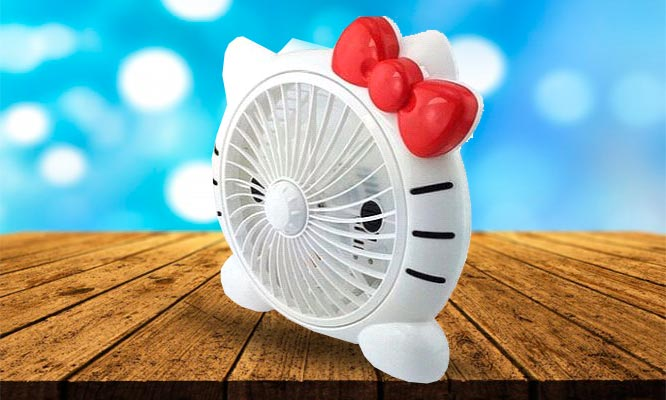 Ventilador Portatil de Hello Kitty