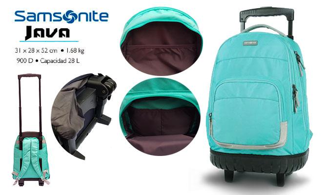 Samsonite® Trolley mochila con ruedas en modelo a escoger delivery