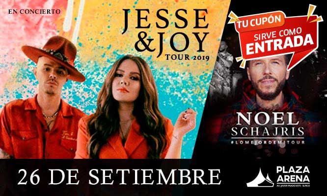 Entrada al Concierto de Jesse & Joy junto a Noel Schajris Lima 2019
