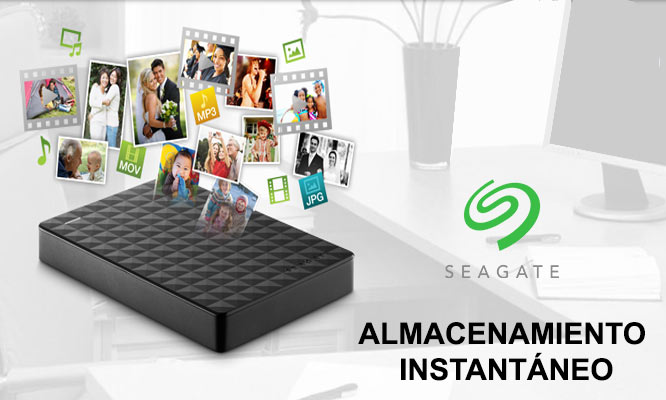 Disco Duro Externo Seagate 2TB -Negro ¡Incluye Delivery!