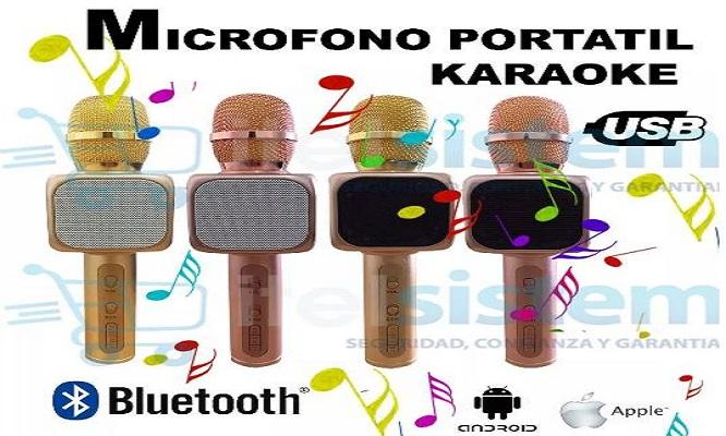 Karaoke inalambrico microfono bluetooh y parlante incorporado