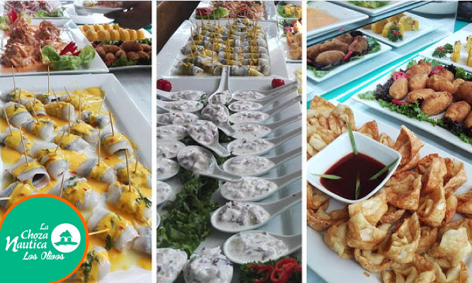 Almuerzo Buffet Criollo-Marino-Makis y Postres con opcion a bebidas