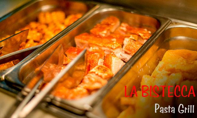 LA BISTECCA Almuerzo o Cena Buffet (ALL YOU CAN EAT)  POSTRE - BEBIDA Lunes-Domingo