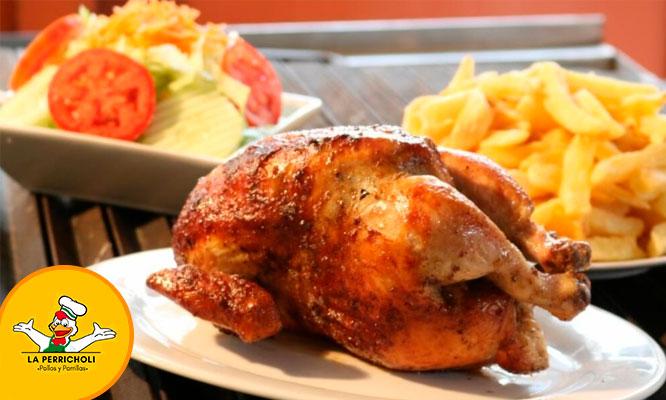 1/4 1/2 o 1 Pollo a la brasa papas ensalada gaseosa en local a eleccion