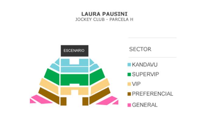 Entrada a eleccion al concierto de Laura Pausini