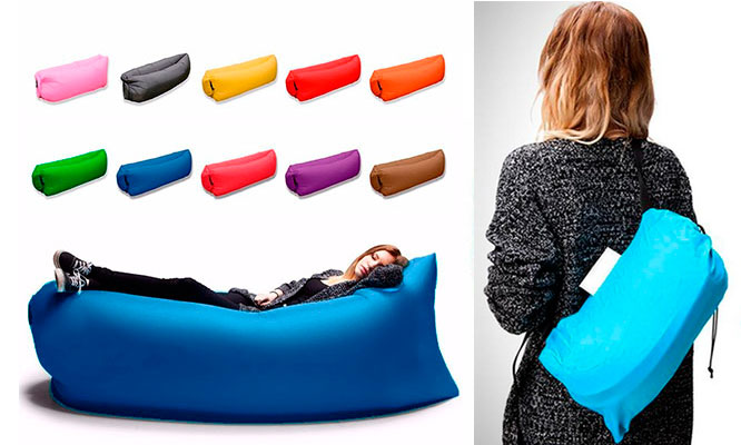 Sofa inflable portatil todo terreno - colores