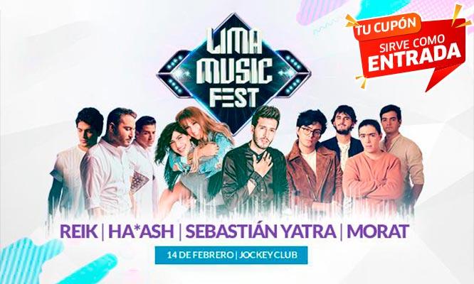 Entrada al Concierto Lima Music Fest 2019 - Reik / Ha*ash / Morat y Sebastian Yatra