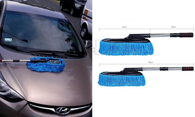 Cepillo de microfibra para limpieza de paredes autos ventanas con Megagruas