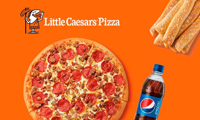 pizza familiar Crazy Breads gaseosa en Little Caesars Pizza