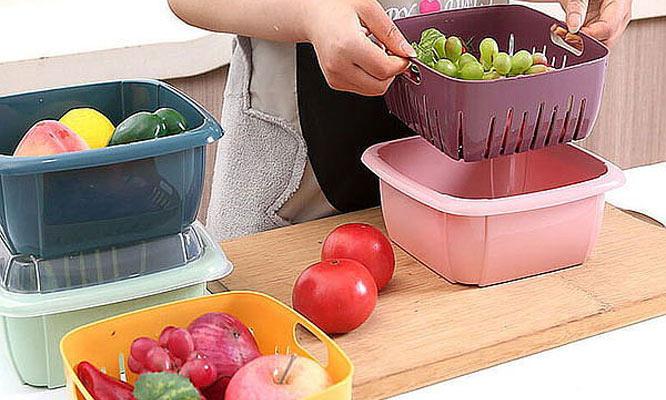 02 Tapper escurridor para frutas y verduras 2 en 1 ¡Incluye delivery!