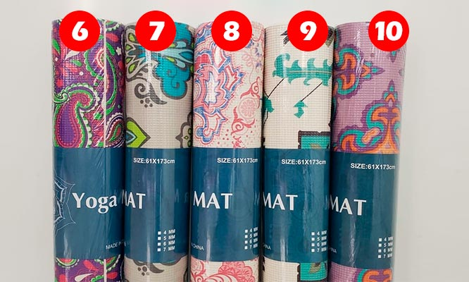 Mat en color entero o con diseño segun elijas