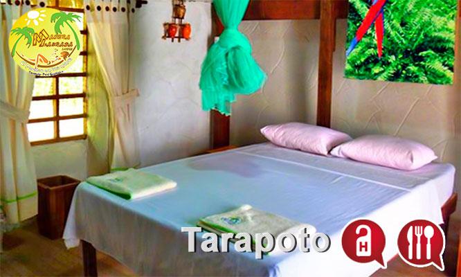 Tarapoto Alojamiento para dos o tres personas desayunos en Madera Labrada Lodge