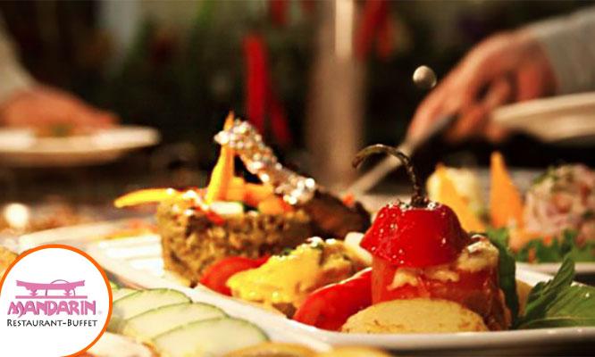Buffet de lunes a domingo en el Restaurant Buffet Internacional Mandarin