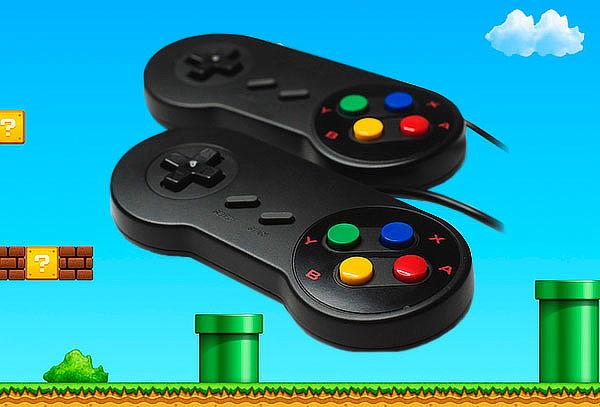 2 Mandos de Nintendo USB para PC - Compatible con Windows 1000 Juegos