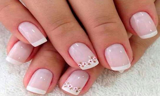 Manicure completa con esmalte en gel 1 art en una uña en Vicky salon y Spa