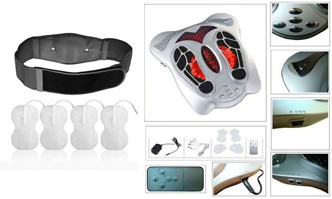 Masajeador de pies electromagnetico con infrarrojos y terapia de reflexologia delivery