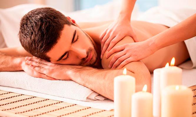 Masaje sueco en cuerpo completo ritual ganesh compresa de semilla