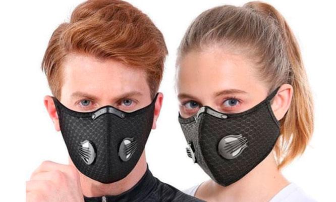 Mascarillas deportivas Sport Mask de Poliester NEGRAS ¡Incluye Delivery!