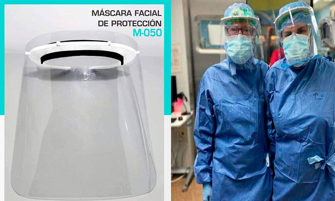 ¡Extrema Proteccion! Mascara facial transparente delivery