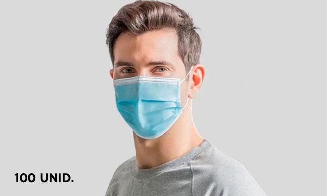 100 mascarillas de 3 capas importadas con certificacion CE y FDA