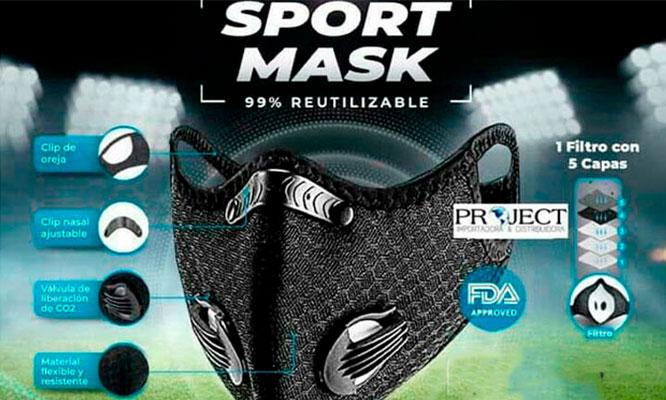 Mascarillas deportivas Sport Mask de Poliester duracion 1 año ¡ Incluye Delivery!