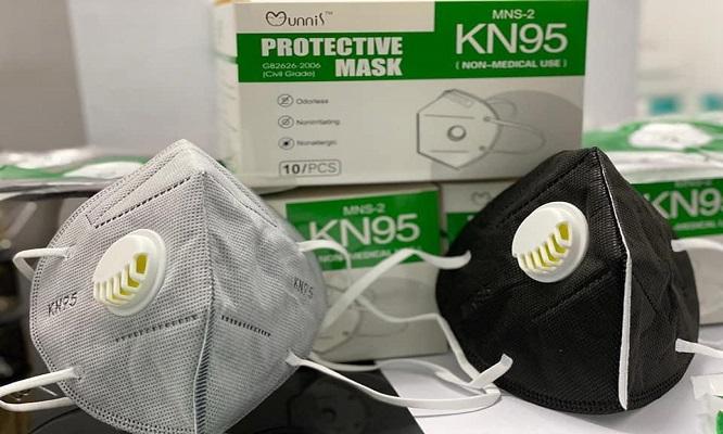 Caja de 10 Respiradores KN95 con filtro de carbon delivery a todo Lima