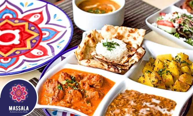 Massala Restaurante Rodizio de comida india para 1 2 o 4 personas