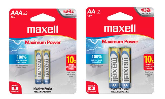 Maxell pack de 4 u 8 pilas AA - AAA ¡Elige tamaño! ¡Incluye delivery!