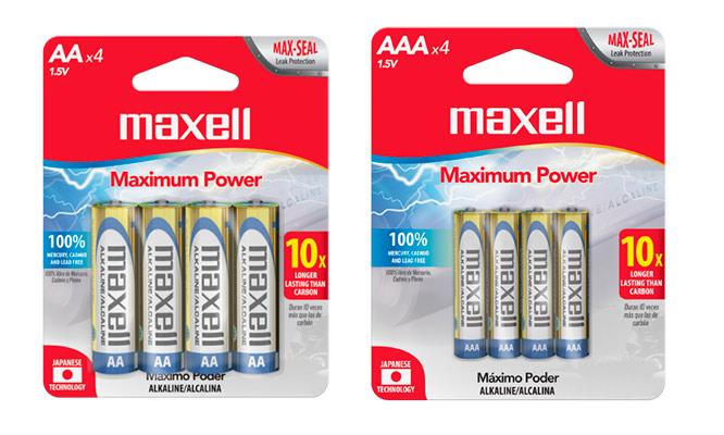 Maxell pack de 8 o 16 pilas ¡Elige tamaño! ¡Incluye delivery!