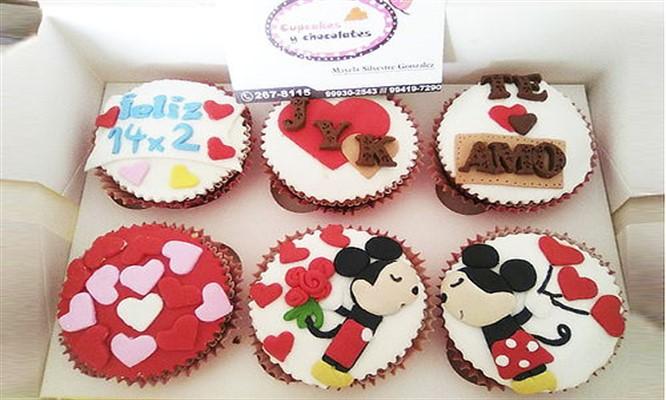 6 cupcakes 3D rellenos y mas