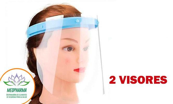 02 Visores faciales protectores con repuesto ¡Incluye delivery!