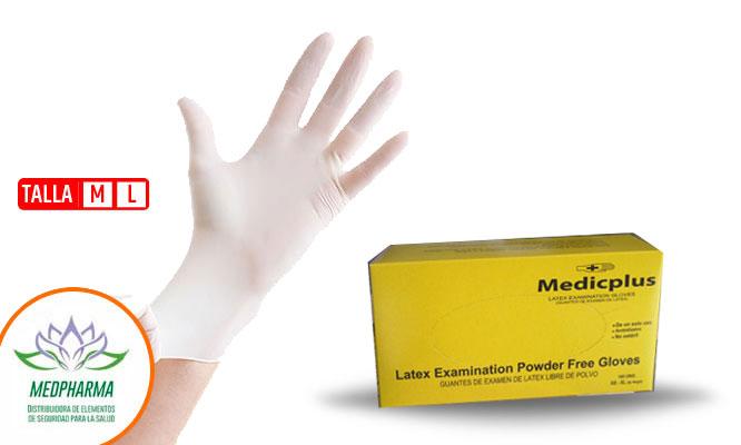 Guantes de latex quirurgico talla M o L - Caja x 100 unidades ¡Incluye delivery!