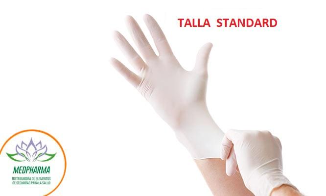Guantes de latex quirurgico talla STD - Caja x 100 unidades Incluye delivery*
