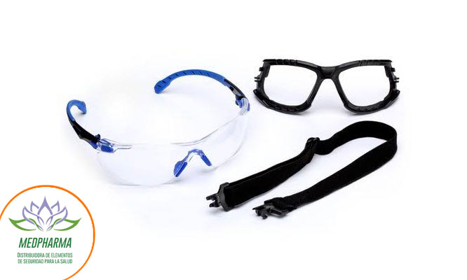 Kit de Gafas Serie 1000 3M™ Solus™ S1101SGAF-KT Anti-Empaño Scotchgard™ ¡Con delivery!