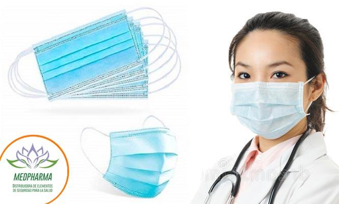 Caja de 50 unidades de mascarillas 3 capas y ajuste nasal importadas¡Incluye delivery!