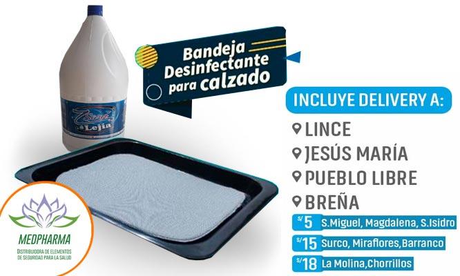Bandeja desinfectante de calzado 1 galon de lejia ¡Incluye delivery!