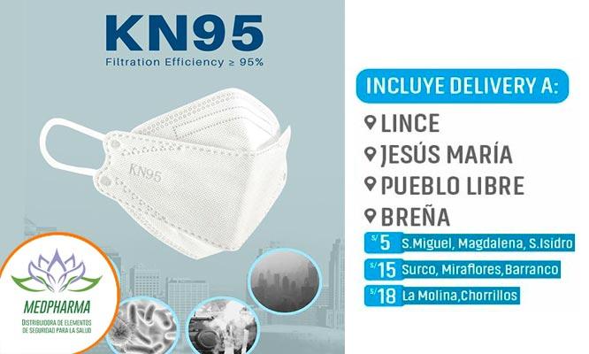 Mascarilla 3D con proteccion respiratoria KN95 - Elige 1 3 o 6 ¡Incluye delivery!