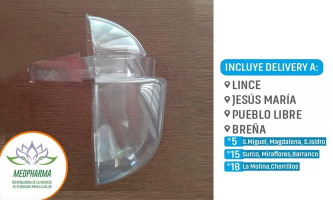Protector facial termoformado con Medpharma ¡Incluye delivery!