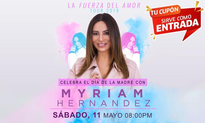 Myriam Hernandez La Fuerza Del Amor Tour Entrada general 11/05 Parque de la Exposicion