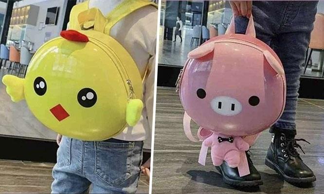 Lindas mochilas para niños estilo Kawai diseños animalitos y asa para guiar al niño