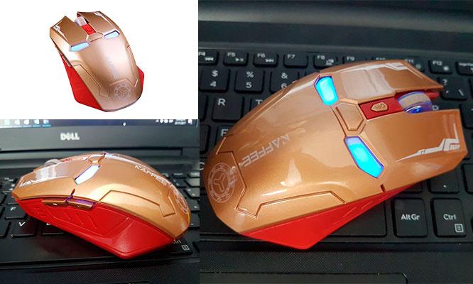 Mouse Gamer inalambrico Iron Man 2400 Dpi regulable