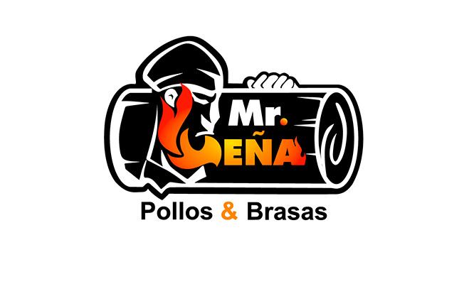 Mr Leña - Pollo a la leña papas fritas o ensalada