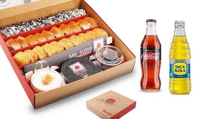 Mr Sushi ¡Para 2! Super Maki Box de Mr Sushi 30 Makis a eleccion 2 gaseosas