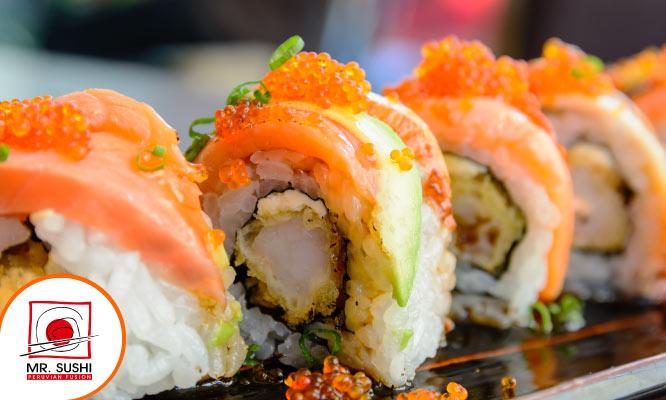 ¡Makis para 2! 3 tablas a eleccion 02 bebidas en Mr Sushi ¡Buenazos!