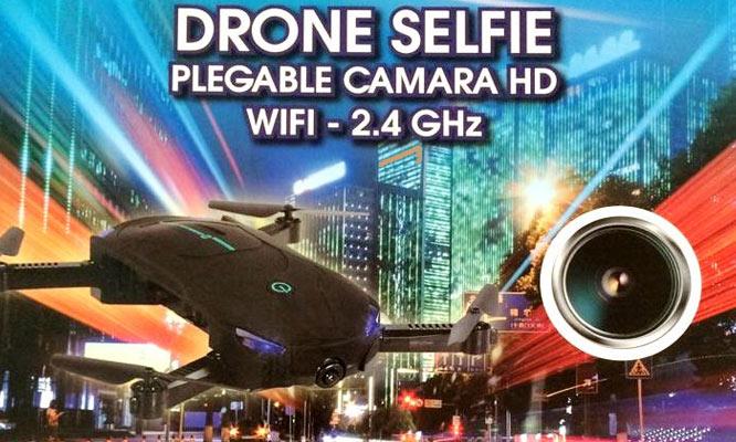 Drone Selfie plegable - Flujo optico FPV 720P WiFi