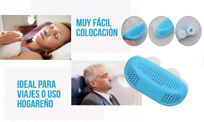 Adaptador Anti Ronquido y purificador nasal anti congestion