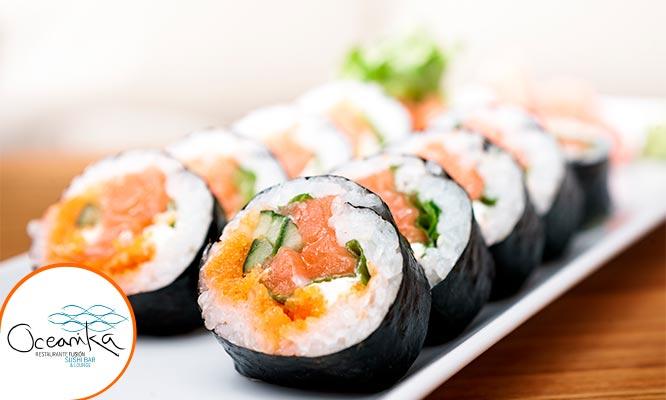 Oceanika - 3 tablas de makis Salados a eleccion 1 maki postre 2 bebidas