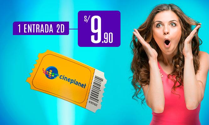 Cineplanet 2 entradas 2D 1 Popcorn gigante recargable 2 bebidas chicas Valido para Lima y Provincias